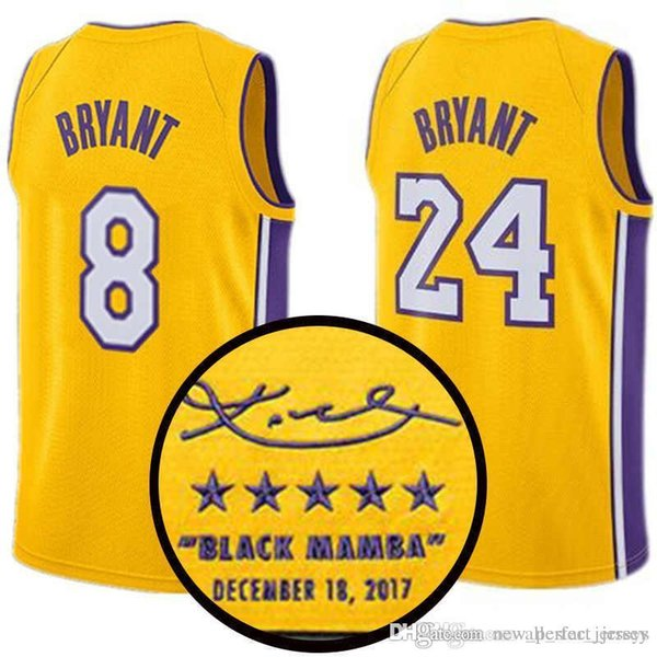 separation shoes 9afbb bee82 2019 Signature 8 Kobe 24 Bryant Edition Jersey Kyle 0 Kuzma Los Angeles  Lebron 23 James Lonzo 2 Ball Brandon 14 Ingram Basketball From  Tukameng2016, ...