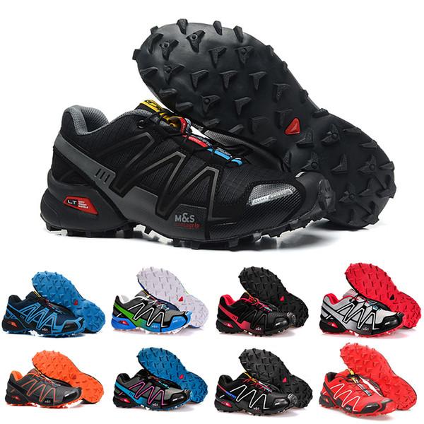 2019 Speedcross 4 IV CS Scarpe da corsa da trail Uomo Donna Viola Rosa Velocità Cross Escursionismo Outdoor Sneakers sportive atletiche 36-46