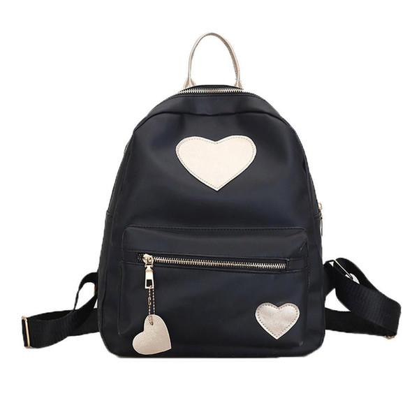 16fa09a8ad62 Женская мода Love Heart Кожаный рюкзак Женщины Школьный рюкзак Рюкзак для  отдыха Сумки для школьников Лучший