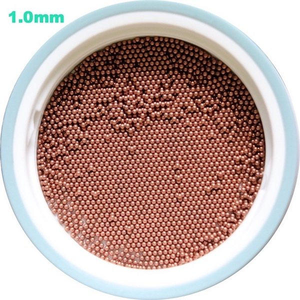 best selling 1mm Solid Copper Bearing Balls (Min 99.9% Cu) For Galvanic Applications And Electronic Industry High Quality