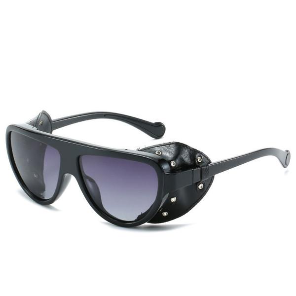 2019 occhiali da sole pilota oversize donna uomo occhiali da sole quadrati steampunk occhiali da sole occhiali da sole lunettes de soleil