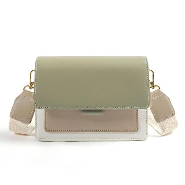 Small fresh contrast color small square bag new fashion trend single shoulder Messenger bag texture lady bag