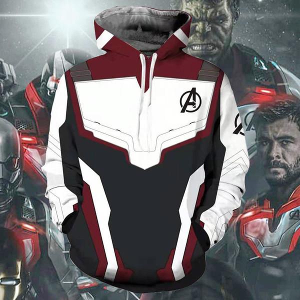 2019 Avengers Endgame Quantum Realm Printing Sweatshirt Jacket Hoodie Coat