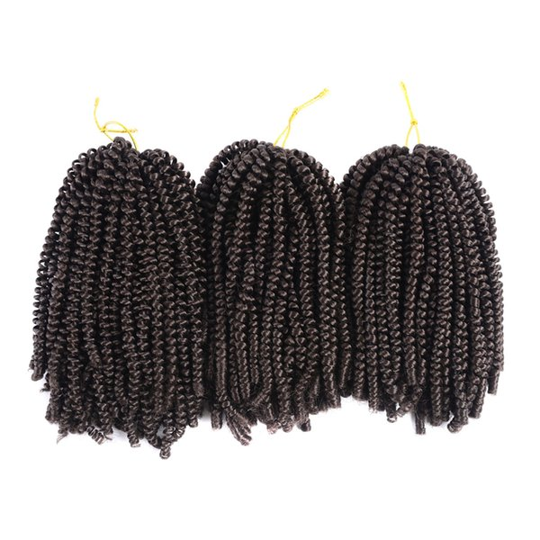 Fluffy Spring Twist Hair Extensions Black Brown Burgundy Ombre Crochet Braids Kanekalon Synthetic Braiding Hair Sassy Girl