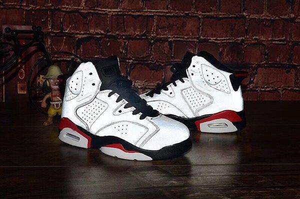 2019 nuevo VI J6 Reflective light 6 6S air Zapatos de baloncesto para niños niño niña deporte para niños Botas de baloncesto para correr Tamaño de la zapatilla de deporte 28-35