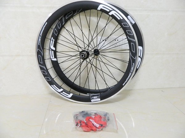 FFWD Road Bicycles 50MM complete carbon fiber wheels bike wheelset with alloy brake surface3k matte/glossy