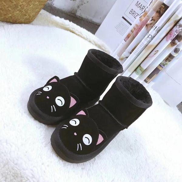 Großhandel Ugg Boots HEIßE Designer Schuhe Jungen Und Mädchen Australien Stil WGG Kinder Schneeschuhe Wasserdichte Slip On Kinder Winter Kuh