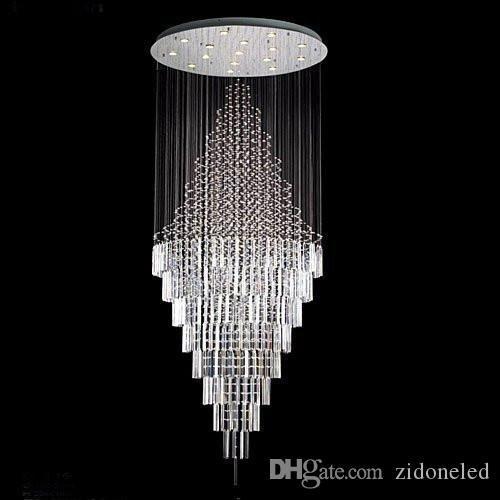 Moderna cristallo contemporanea lampadario di goccia della pioggia Lampadari H 100