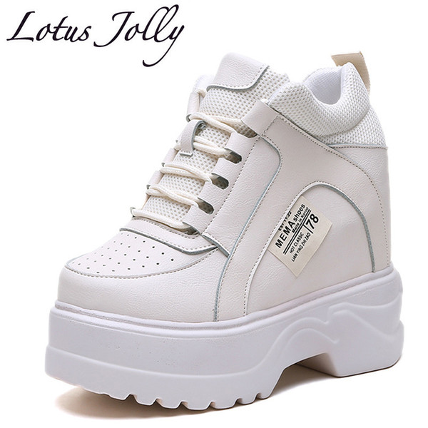Fashion Sneakers 12cm Hight Increase Women Mesh Breathable Chunky Sneakers Elevator Casual Walking Shoes Woman Ladies Creepers