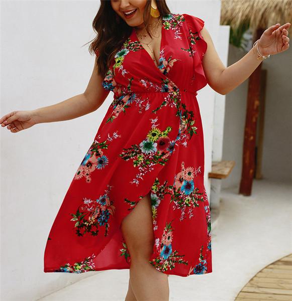 Платье без рукавов с V-образным вырезом без рукавов и V-образным вырезом