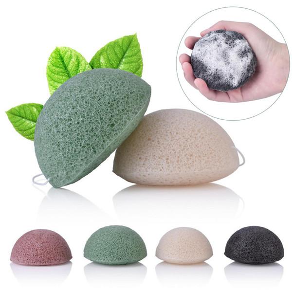best selling Konjac Konnyaku Facial Puff Face Cleanse Washing Sponge Konjac Konnyaku Exfoliator Cleansing Sponge Facial Care Makeup Tools YD0421