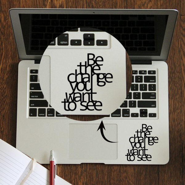 Gandhi Citation Inspired Laptop Trackpad Sticker Decal Pro Retina Air 11 12 13 14 15 pouces vinyle Mac Book Touchpad peau