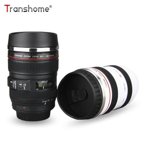 Transhome Camera Lens Mug Creative Coffee Mug Stainless Steel Tumbler Travel Cup Coffee Tea Cups Vacuum Flask Mugs Novelty Gift C19041302