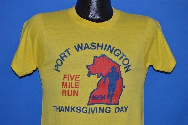 vintage des années 80 PORT WASHINGTON 5 MILLE MERCI DONNER RUNNERS T-shirt PETIT SFUNny livraison gratuite Unisexe Casual