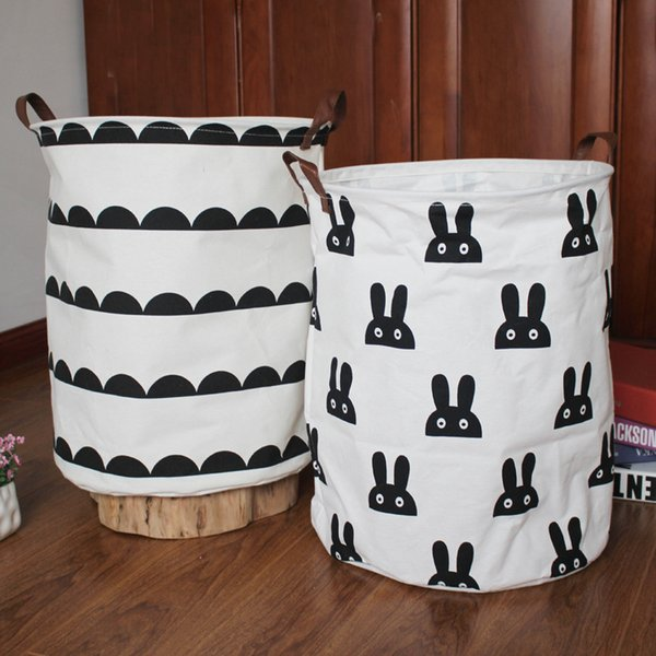 Yerli kumaş çamaşır sepeti katlanır puantiyeli koleksiyonu bir varil depolama büyük kapasiteli çanta BG413 Almak