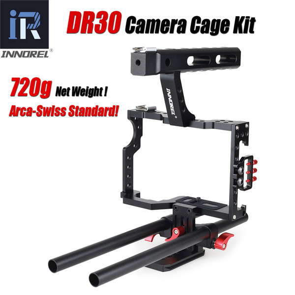 Camera Cage Kit 15mm Rod Stabilizer Rig Handle Grip For Sony A7II A7R A7S A6300 A6000 Panasonic GH4 GH3 Canon M3 M5