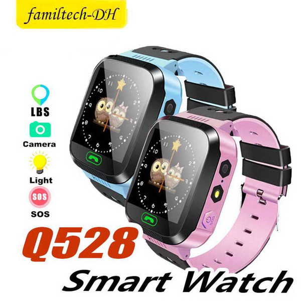 Q528 Smart Watch for Children Smart Bracelet LBS Tracker SOS with Light Anti Lost Wristband with SIM Card Camera for IOS Android in Box