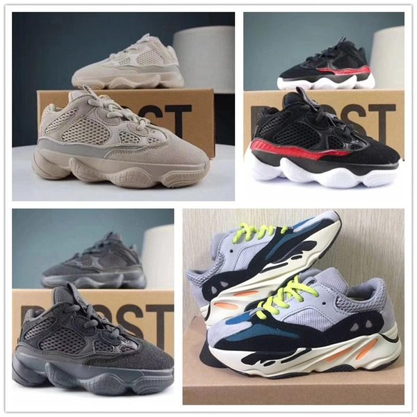New Kids Shoes Kanye West V2 Wave Runner 700 Girl Running Shoes 500 Baby Toddler Trainer Boy Sneakers Children Athletic Shoes Black Redac92# Kids