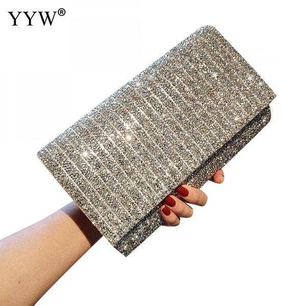 Sacs à main à paillettes et sac à main femmes sacs Designer soirée en soirée Party petit sac d'embrayage pour les femmes mode Lady Prom Purse portefeuille