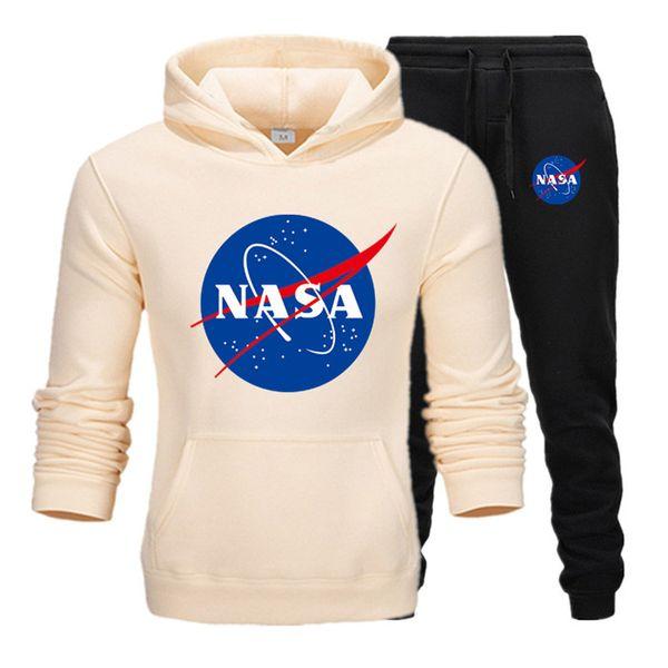 Moda Tasarımcısı NASA Eşofman Bahar Sonbahar Rahat Unisex Marka Spor Erkek Eşofman Yüksek Kalite Hoodies Erkek Giyim T7 Suits