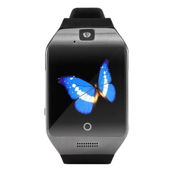 Smart Watch Android Phone Watch Men CellPhone Watch Fitbit tracker Smart Bracelets Q18 fitness tracker Wristband With Mini Camara TF Card