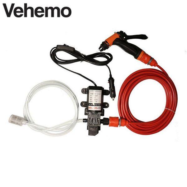 12V 70W 130 PSI High Pressure Self-Priming Car Electric Wash Water Pump Portable Clean Kit Set