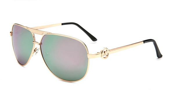 Top marque de haute qualité 5001 lunettes de soleil pour hommes et femmes à la mode sauvage métal miroir de conduite lunettes lunettes lunettes