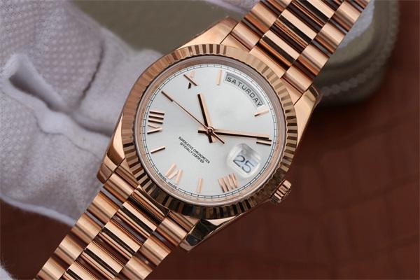 N NF Factory Best Edition 228235 President DayDate Luxury Rose Gold Mens mechanical watches Swiss Cal.3255 super Automatic movement watch