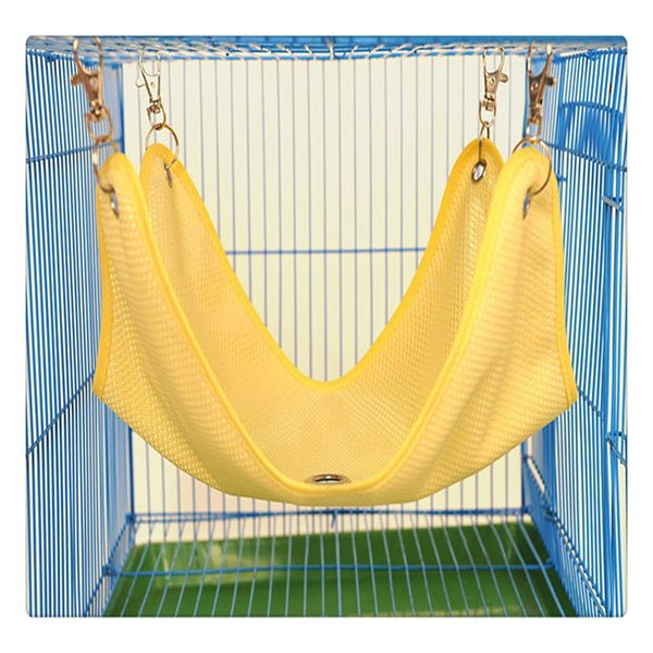 Small Pet Hamster Summer Mesh Breathable Cage Hammock Swing Hanging Bed with Pothooks for Ferret Totoro Wholesale