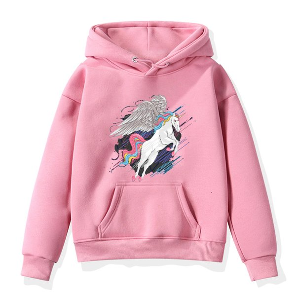 Mode Unicorn Print Sweater Kleinkind-Jungen-Mädchen-Sweatshirt beiläufige Hoodies-Baby-Winter-warme lange Hülsen-mit Kapuze Kinderkleidung T191014