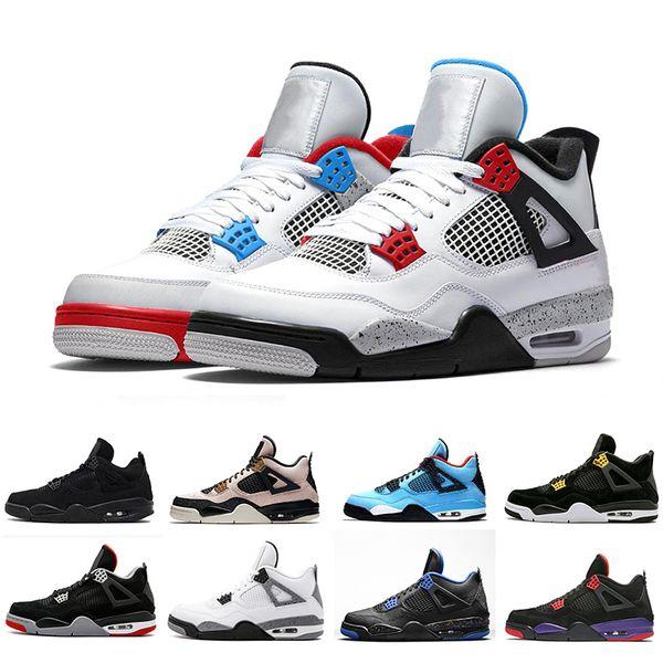 2019 New Bred 4 4s What The Cactus Wings Mens Basketball Shoes Denim Blue Eminem Pale Citron retros Men Sports Designer Sneakers 7-13