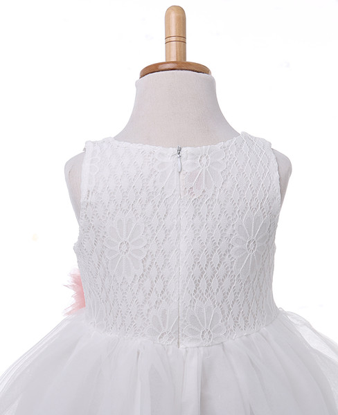 NEW Arrive Lace Flower Girl Dress Kid Party Bridesmaid Tutu Dresses Ball Gown Formal Dress Children Girls Tutu Tulle Mesh Dress