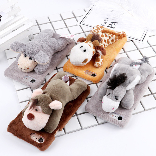 For Iphone 8Plus 5.5 XS Max Phone Case UNBreak Cellphone Protecting Jacket Wistiti Doll Monkey Donkey Animal Rear Cover Type Hard Shell