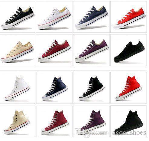 Ücretsiz kargo Fabrika fiyat kanvas ayakkabılar düşük yüksek stil klasik Kanvas Ayakkabılar, Lace up womenmen Sneakers, öğrenciler lace up ayakkabı