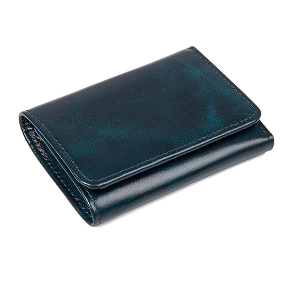 Brand Mens Women Wallets Genuine Leather Men's Short Wallet Bag Men Wallet for Credit Cards European and American Style Wallets for Men