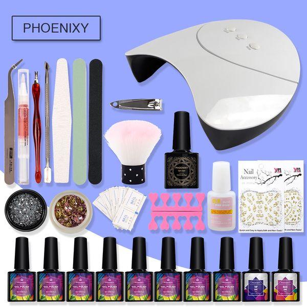 Manicure Set Gel Polish Nail Kit 36w UV LED Lamp 8 Colors Matte Nail Gel Polish Set Tools For Manicure Matte Top Coat