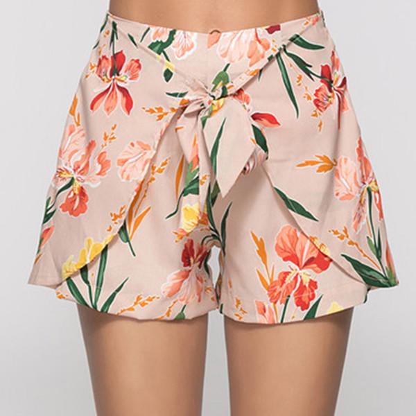 Spring Lace Sexy Mini Urlaub Sommer Polyester Beiläufige Lose Frauen Shorts Gedruckt Seaside Fashion Beach