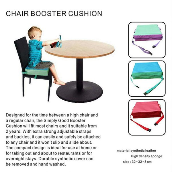 Chair Heightening Cushion Portable Dismountable Adjustable Highchair Booster for Baby Toddler Kids Infant Washable Thick Chair Seat Pad Mat