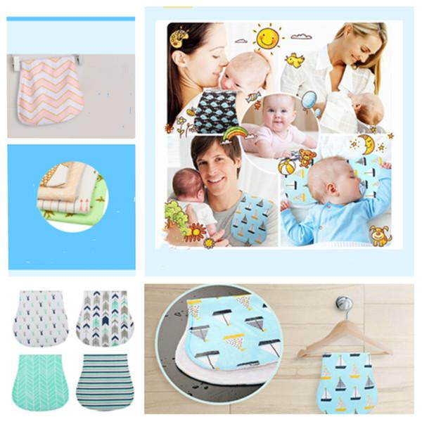 Yeni Bebek Hemşirelik Burp 23 Stilleri Bebek Çocuk Çizgili Besleme bebek önlükler Tükürük Bandana Türban Burp Bezleri öğle Önlükler T2G5036