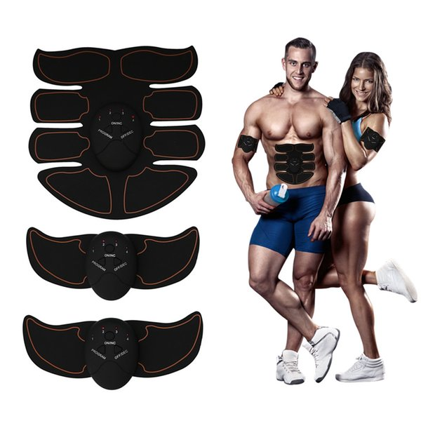 top popular 8 Pack Muscle Toner Eight-pack Mobile-Gym ABS Smart Fitness EMS Fit Toning Electric Muscle equipment Body Building Device Free Shipping 2020