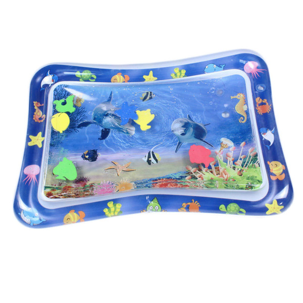 top popular Tummy Time Infant Mats Playmats Floodable & Inflatable Baby Patted Pads Summer Cool Water Cushion 2021