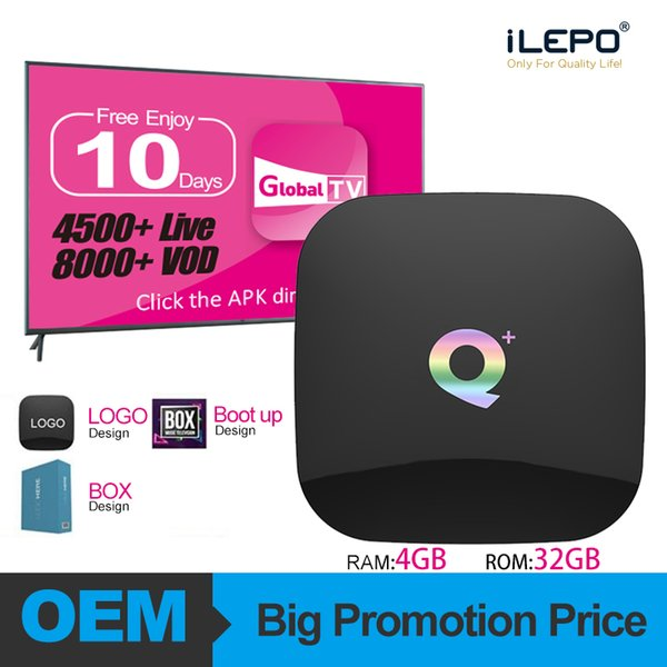 top popular Android 9.0 TV Box Quad Core 4GB 32GB iptv subscription TV Box Support italia portugal spain francais USA 7000 live vod 2019