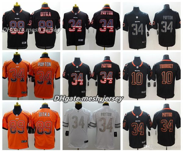 best loved 15b86 ae7cb 2019 Men Chicago Bears Jersey 89 Mike Ditka 10 Mitchell Trubisky 34 Walter  Payton Color Rush Football Jerseys From Yb792, $24.37 | DHgate.Com