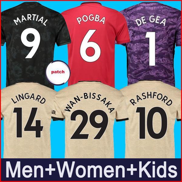 Thailand POGBA LINGARD man 19 utd 20 manchester soccer united jerseys 2019 2020 RASHFORD football kit MARTIAL jersey shirt men and kids