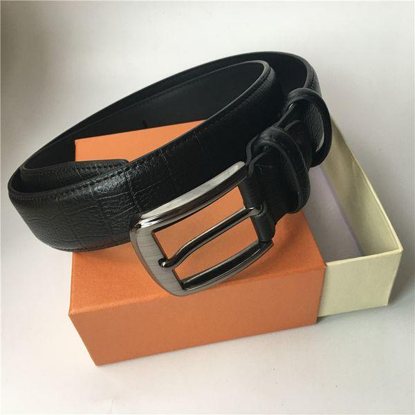 top popular High Quality Belt Men Women Belt Genuine Leather Belts Pants Waist Belts Gold Silver Black Smooth Buckle 2021