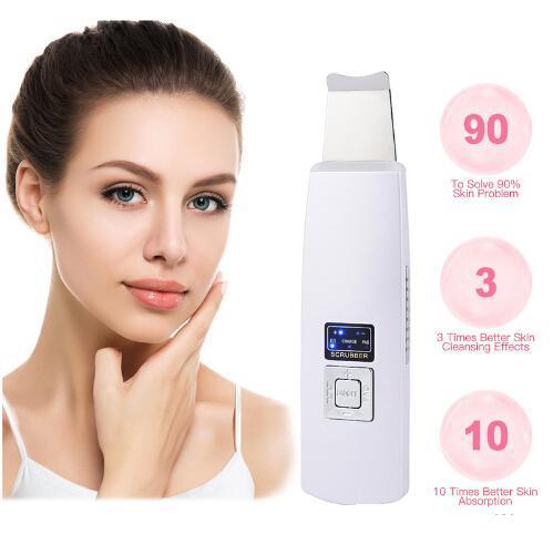 Ultrasuoni Viso Pore Cleaner Ultrasuoni Skin Scrubber Peeling Facial Massager Dispositivo di bellezza Face Lift Stringere Rimozione delle rughe