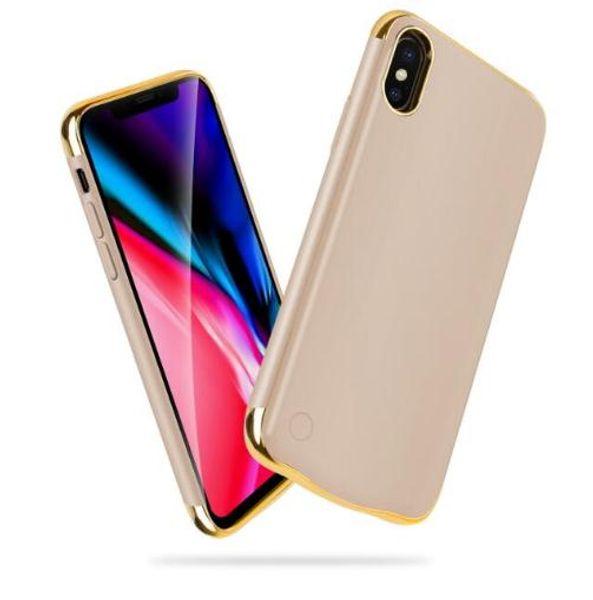Luxusüberzug stoßfest ladegerät fall für iphone xr xs max wiederaufladbare energienbank für iphone 6 6s 7 8 plus x 10 xs lade abdeckung