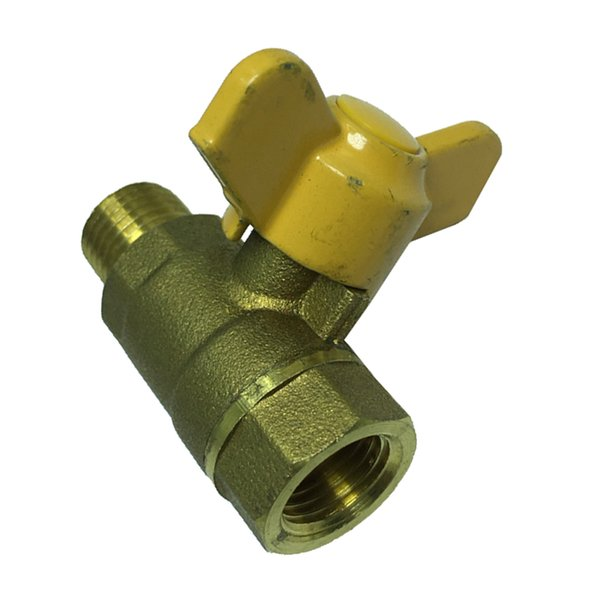 top popular 1Pc Butterfly Handle Female Male Thread Brass Ball Valve 2021