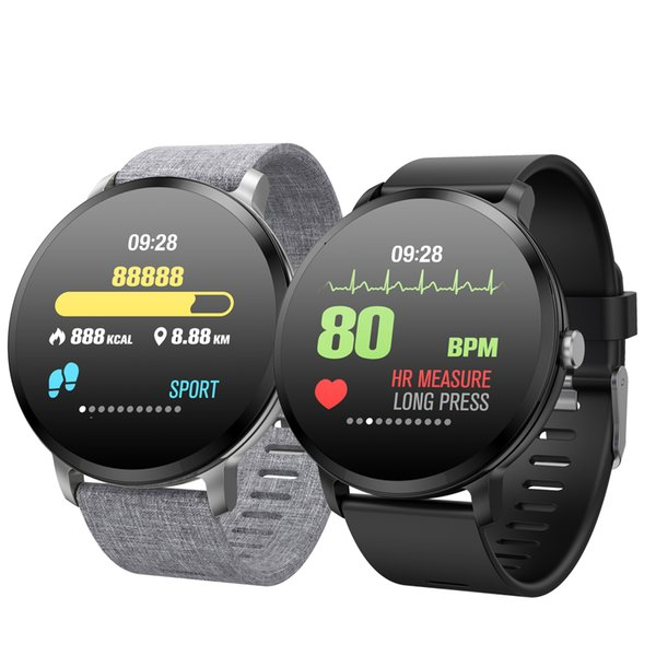 earable Devices Smart Watches V11HR Smart watch IP67 waterproof Tempered glass Activity Fitness tracker Heart rate monitor BRIM man wome...