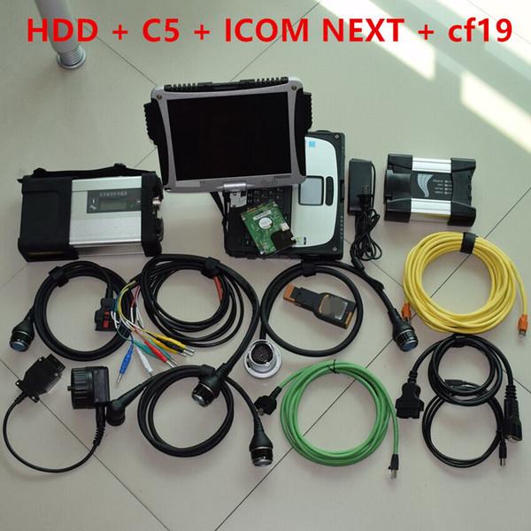 2019 Nuovo arrivo strumento diagnostico super 2in1 per BMW ICOM NEXT per sd connect mb star c5 con laptop cf19 4g dbook gratuito dhl